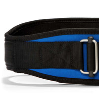 2004 Schiek Contour Weight Lifting Belt Royal Blue Front Close Up