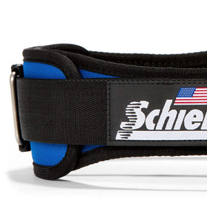 2004 Schiek Contour Weight Lifting Belt Royal Blue Side Close Up
