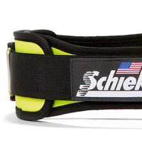 2004 Schiek Contour Weight Lifting Belt Yellow Side Close Up
