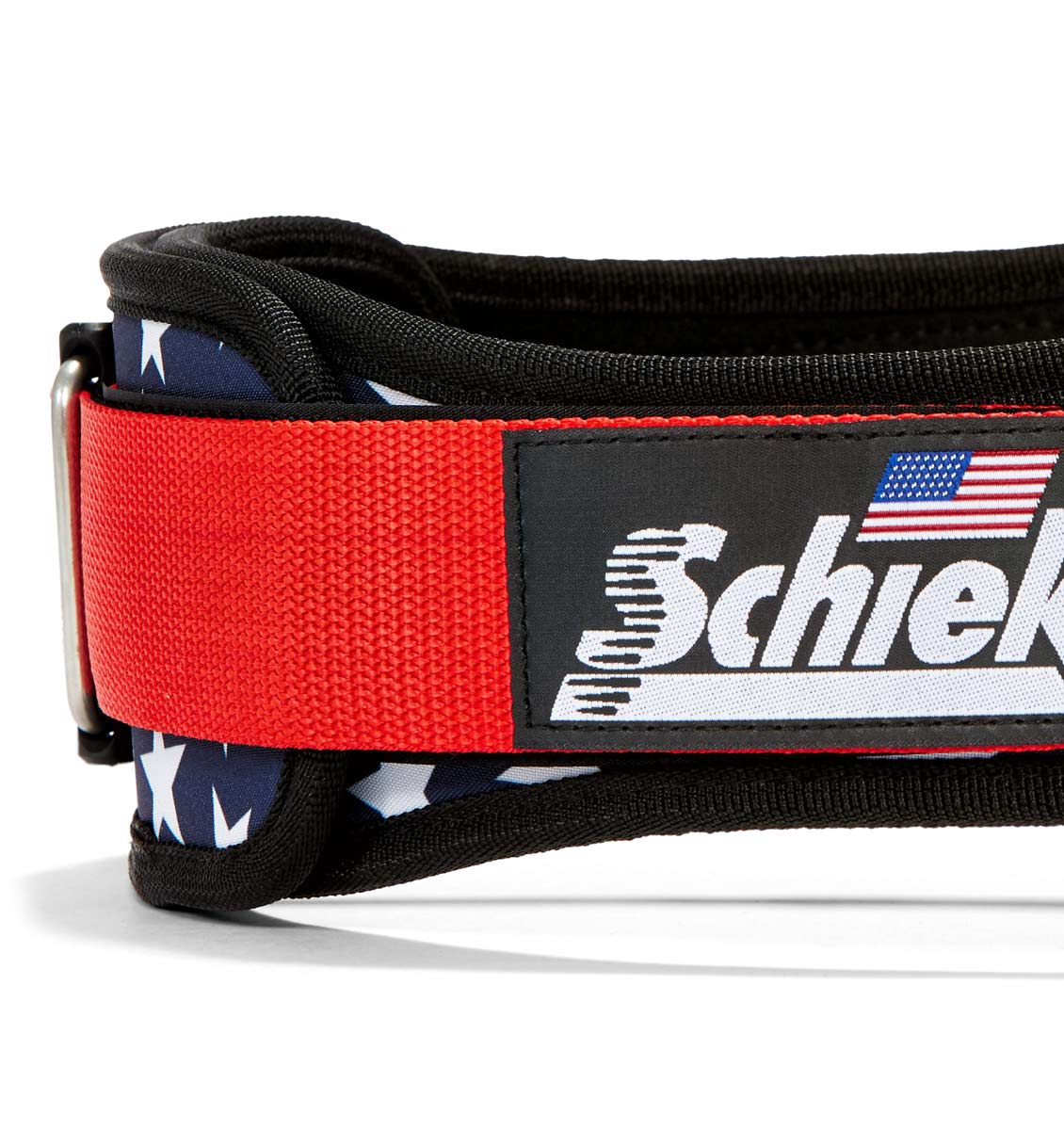 2004 Stars n Stripes Schiek Contour Weight Lifting Belt Stars and Stripes Side Close Up