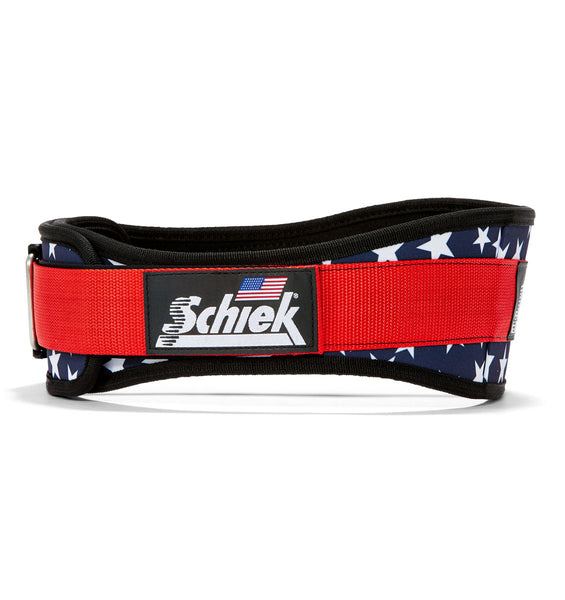 2004 Stars n Stripes Schiek Contour Weight Lifting Belt Stars and Stripes Side