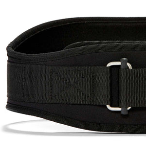 2006 Schiek Contour Weight Lifting Belt Black Front Close Up
