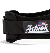 2006 Schiek Contour Weight Lifting Belt Black Side Close Up