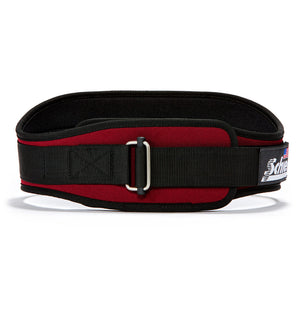 2006 Schiek Contour Weight Lifting Belt Burgundy Front