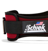 2006 Schiek Contour Weight Lifting Belt Burgundy Side Close Up
