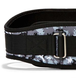2006 Schiek Contour Weight Lifting Belt Digi Camo Front Close Up