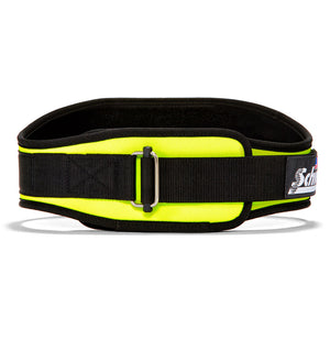 2006 Schiek Contour Weight Lifting Belt Neon Yellow Front