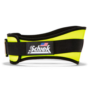 2006 Schiek Contour Weight Lifting Belt Neon Yellow Side