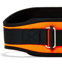 2006 Schiek Contour Weight Lifting Belt Orange Front Close Up