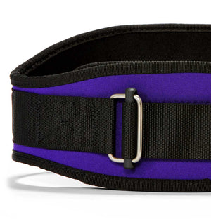 2006 Schiek Contour Weight Lifting Belt Purple Front Close Up