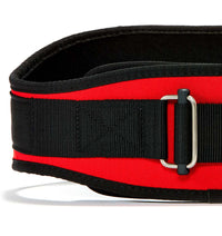 2006 Schiek Contour Weight Lifting Belt Red Front Close Up