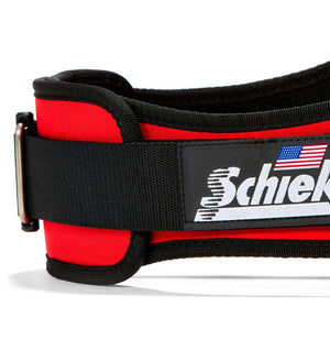 2006 Schiek Contour Weight Lifting Belt Red Side Close Up