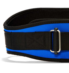 2006 Schiek Contour Weight Lifting Belt Royal Blue Front Close Up
