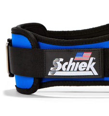 2006 Schiek Contour Weight Lifting Belt Royal Blue Side Close Up