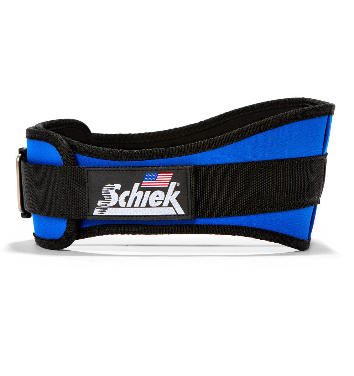 2006 Schiek Contour Weight Lifting Belt Royal Blue Side