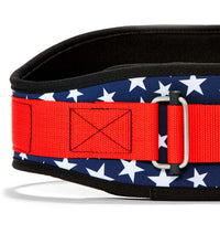 2006 Stars n Stripes Schiek Contour Weight Lifting Belt Stars and Stripes Front Close Up