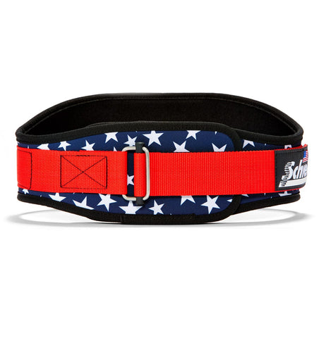 2006 Stars n Stripes Schiek Contour Weight Lifting Belt Stars and Stripes Front