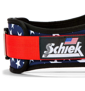 2006 Stars n Stripes Schiek Contour Weight Lifting Belt Stars and Stripes Side Close Up