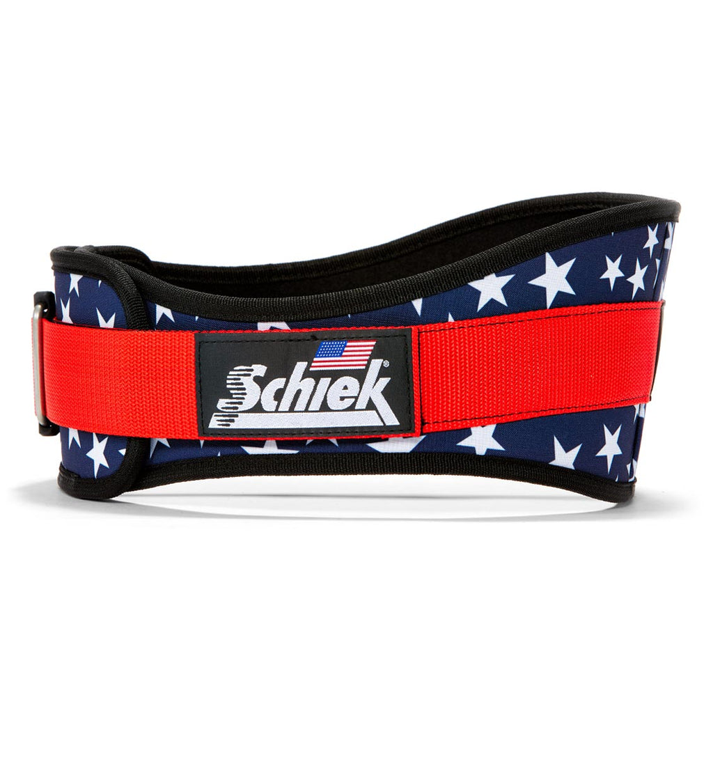 2006 Stars n Stripes Schiek Contour Weight Lifting Belt Stars and Stripes Side