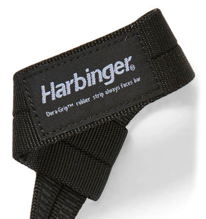 20600 Harbinger Big Grip Lifting Straps Logo Close Up