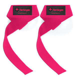 21307 Harbinger Padded Lifting Straps Pink Front Pair