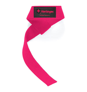 21307 Harbinger Padded Lifting Straps Pink Front Single