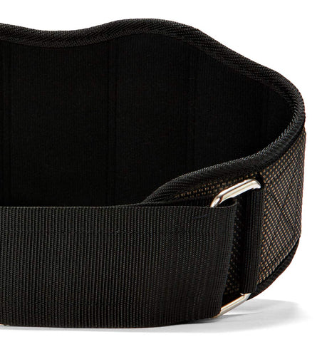 22300 Harbinger 7.5 inch FirmFit Contoured Mens Weight Lifting Belt Front Close Up