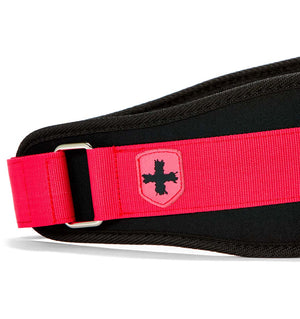 23200 Harbinger 5 inch Foam Core Womens Weight Lifting Belt Pink Side Close Up