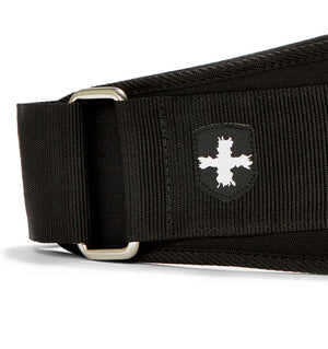 23300 Harbinger 5 inch Foam Core Mens Weight Lifting Belt Black Side Close Up