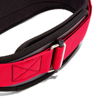 3004 Schiek Contour Power Weight Lifting Belt Black and Red Buckle
