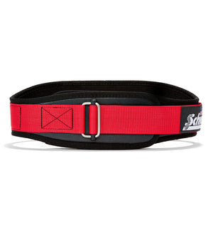 3004 Schiek Contour Power Weight Lifting Belt Black and Red Front