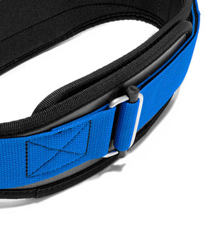 3004 Schiek Contour Power Weight Lifting Belt Blue Buckle