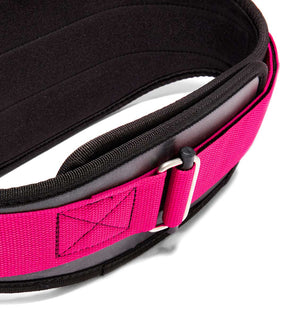 3006 Schiek Contour Weight Lifting Belt Pink Buckle