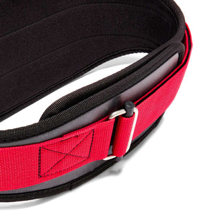 3006 Schiek Contour Weight Lifting Belt Black and Red Buckle
