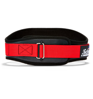 3006 Schiek Contour Weight Lifting Belt Black and Red Front