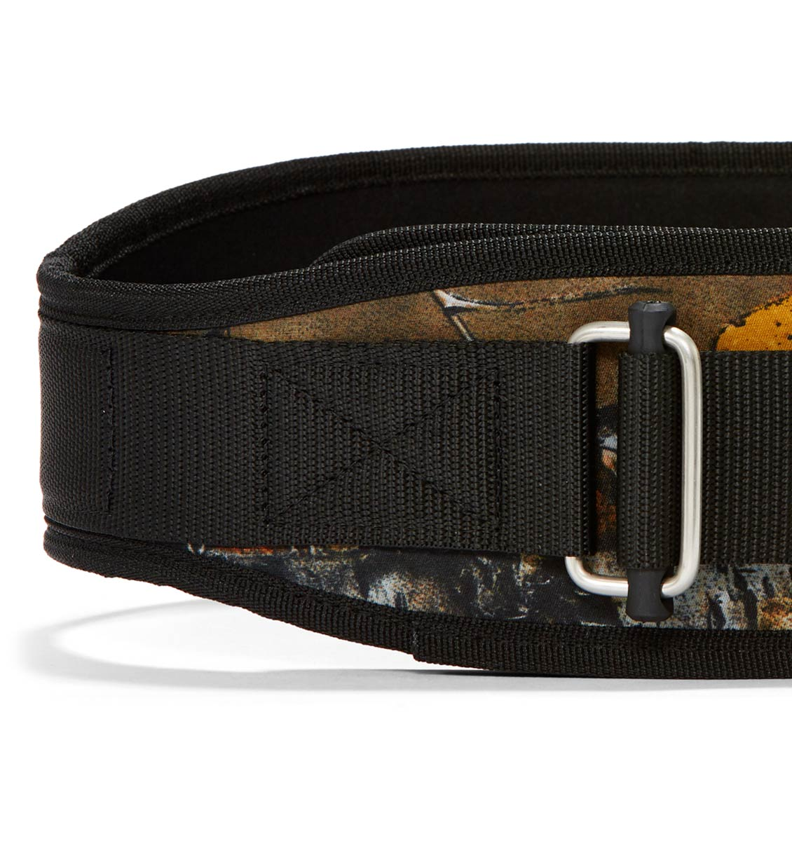 4006OB Schiek Contour Weight Lifting Belt Camo Front Close Up