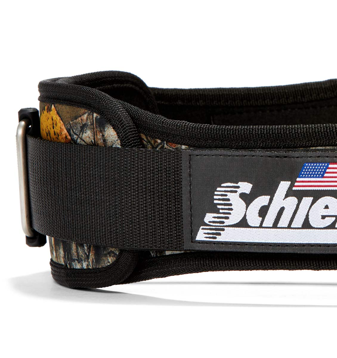 4006OB Schiek Contour Weight Lifting Belt Camo Side Close Up