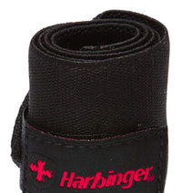 44500 Harbinger Pro Thumb Loop Wrist Wraps Straps 20 inch Single Close Up