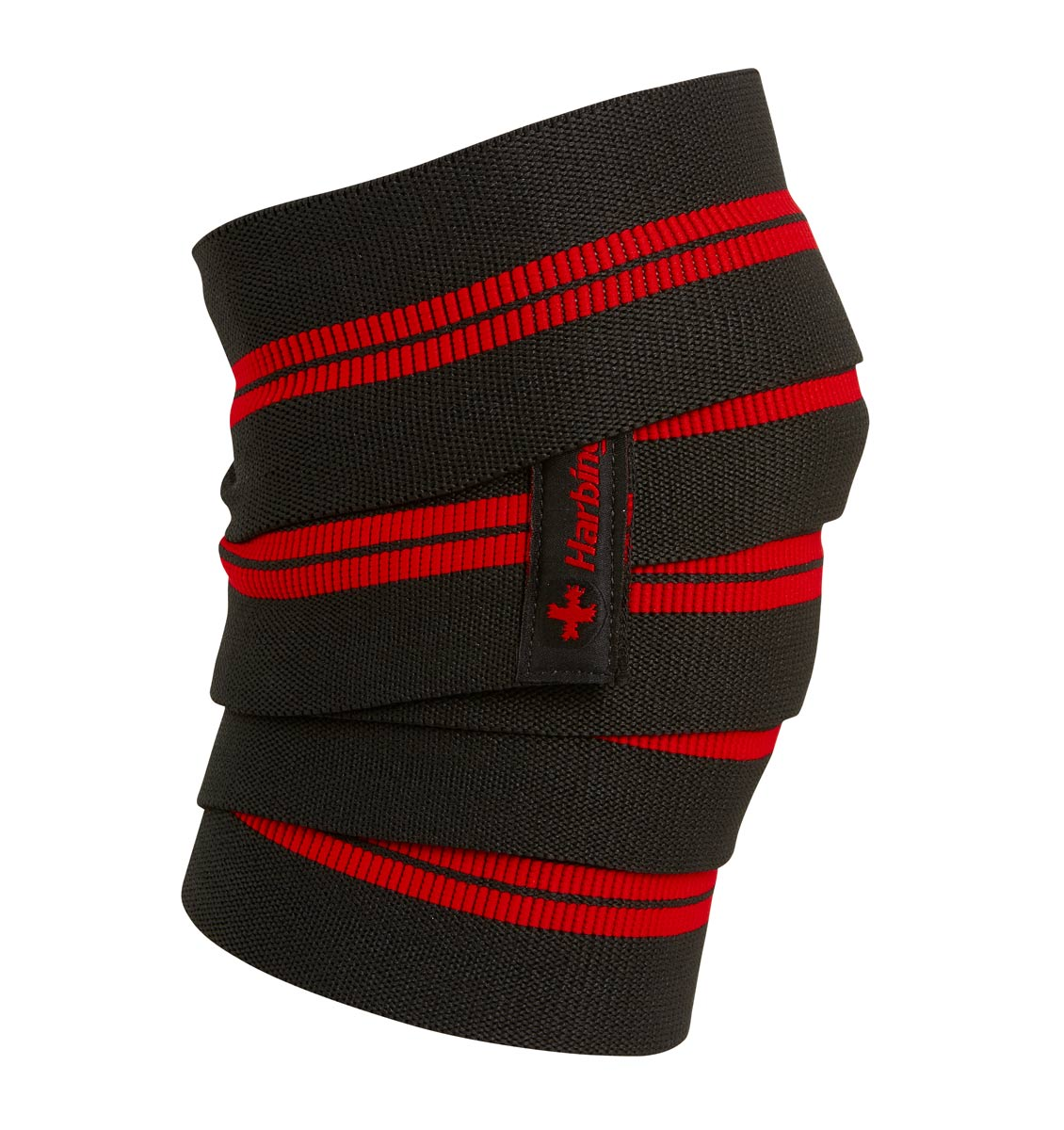 46300 Harbinger 78 inch Red Line Knee Wraps Side