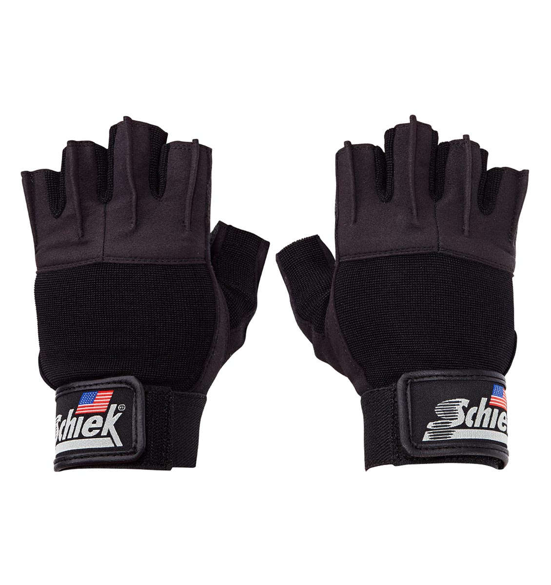 520 Schiek Womens Platinum Series Lifting Gym Gloves with Fins Pair Top