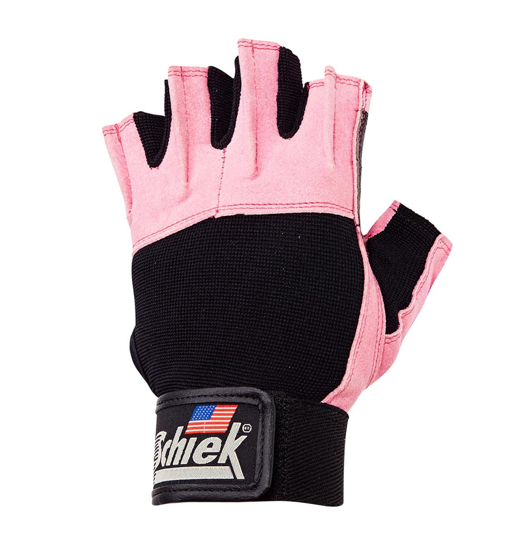 520PINK Schiek Womens Lifting Gym Gloves Left Top