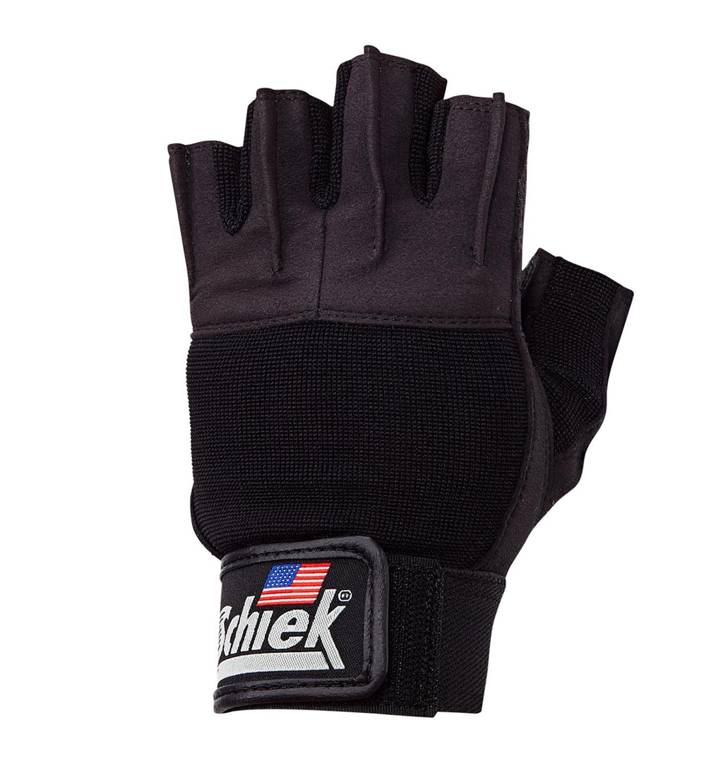 530 Schiek Platinum Series Lifting Gym Gloves with Fins Left Top