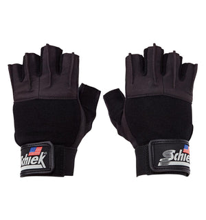 530 Schiek Platinum Series Lifting Gym Gloves with Fins Pair Top