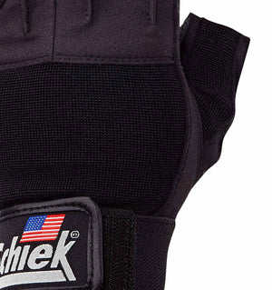530 Schiek Platinum Series Lifting Gym Gloves with Fins Top Close Up
