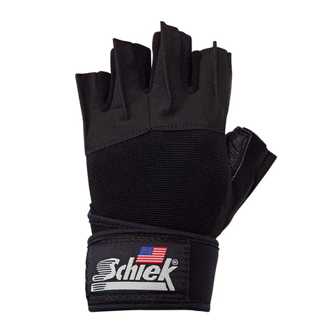 540 Schiek Platinum Series Lifting Gym Gloves with Wrist Wraps Left Top