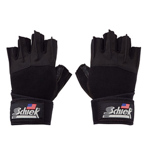 540 Schiek Platinum Series Lifting Gym Gloves with Wrist Wraps Pair Top