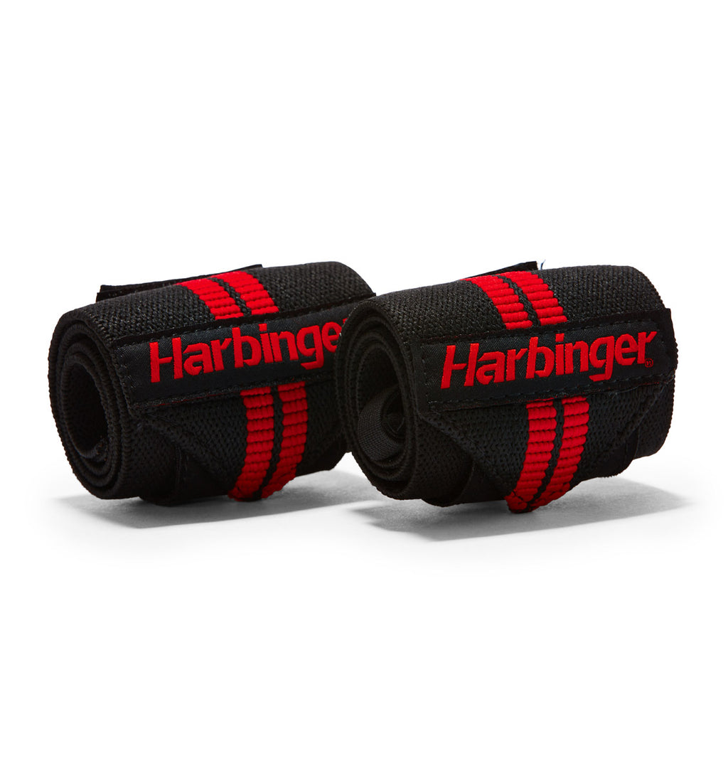 7044300 Harbinger Red Line Wrist Wraps Straps Pair