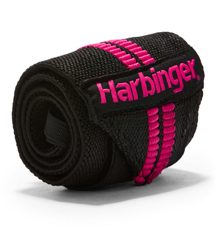 7044307 Harbinger Pink Line Wrist Wraps Straps Single Close Up