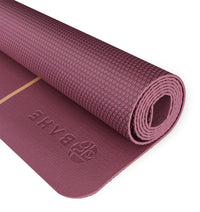 BAHE Essential Yoga Mat Alignment (4mm) - Mulberry - 2