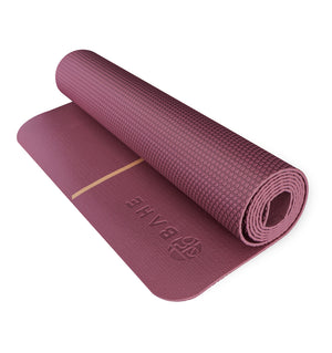 BAHE Essential Yoga Mat Alignment (4mm) - Mulberry - 4